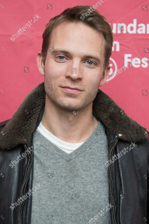 """Actor David Call seen at the premiere of """"James White"""" during the 2015 Sundance Film Festival, in Park City, Utah"""