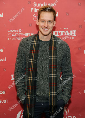 "Chris Sheffield, a cast member in ""Stanford Prison Experiment,"" poses at the premiere of the film at the Eccles Theatre during the 2015 Sundance Film Festival, in Park City, Utah"