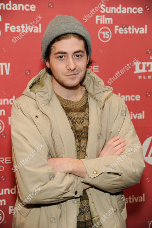 """Stock Image of Jesse Carere, a cast member in """"Stanford Prison Experiment,"""" poses at the premiere of the film at the Eccles Theatre during the 2015 Sundance Film Festival, in Park City, Utah"""