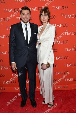 Ayman Mohyeldin, left, attends the TIME 100 Gala, celebrating the 100 most influential people in the world, at the Frederick P. Rose Hall, Time Warner Center, in New York