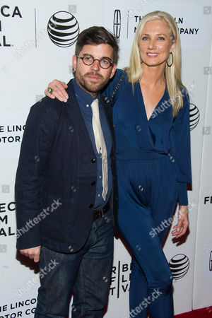 "Henry Hobson, left, and Joely Richardson attend the Tribeca Film Festival world premiere of ""Maggie"" at BMCC Tribeca Performing Arts Center, in New York"