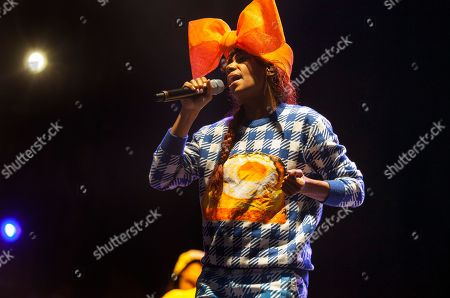 Stock Image of Santi White performs as Santigold at the Voodoo Music Experience, in New Orleans