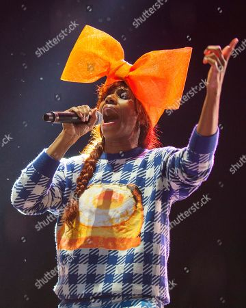 Santi White performs as Santigold at the Voodoo Music Experience, in New Orleans