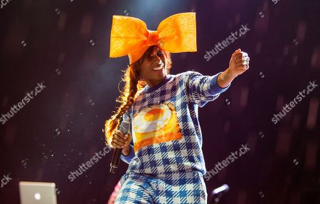 Stock Photo of Santi White performs as Santigold at the Voodoo Music Experience, in New Orleans