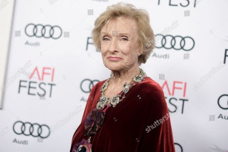 "Cloris Leachman attends the premiere of ""The Comedian"" during the 2016 AFI Fest at the Egyptian Theatre, in Los Angeles"