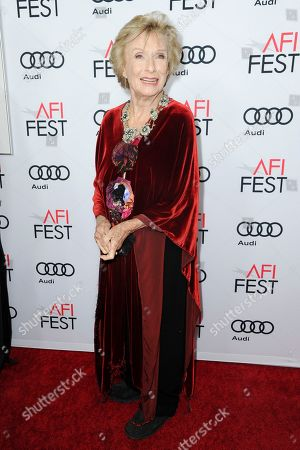 "Cloris Leachman attends the premier of ""The Comedian"" during the 2016 AFI Fest at the Egyptian Theatre, in Los Angeles"