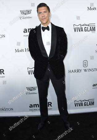 Fredrik Eklund arrives at the amfAR Inspiration Gala Los Angeles at Milk Studios on