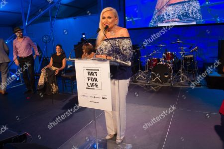 Suzanne de Passe speaks on stage at the 2016 Art For Life Benefit, presented by Russell Simmonsâ?™ RUSH Philanthropic Arts Foundation, at Fairview Farms,, in Water Mill, New York