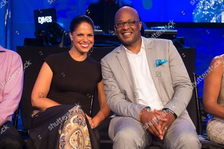 Soledad O'Brien, left, and Frank Cooper III appear on stage at the 2016 Art For Life Benefit, presented by Russell Simmonsâ?™ RUSH Philanthropic Arts Foundation, at Fairview Farms,, in Water Mill, New York