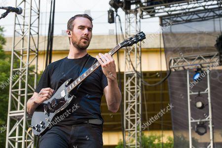 Noah Feldshuh of X Ambassadors performs at Bunbury Music Festival at Sawyer Point Park & Yeatman's Cove, in Cincinnati