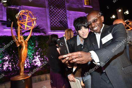 Diane Warren and Greg Phillinganes attend the 2016 Casting & Music Nominee Receptions presented by the Television Academy at the Montage Hotel, in Beverly Hills, Calif