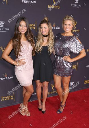 Stock Picture of Manuela Arbelaez, from left, Amber Lancaster, and Rachel Reynolds attend the 2016 Daytime Peer Group Celebration presented by the Television Academy at their Saban Media Center, in North Hollywood, Calif