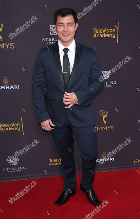 Christopher Sean arrives at the 2016 Daytime Peer Group Celebration presented by the Television Academy at their Saban Media Center, in North Hollywood, Calif