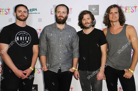 Daniel Kongos, from left, Johnny Kongos, Jesse Kongos and Dylan Kongos of the musical group KONGOS attend 2016 EpicFest held at Sony Pictures Studios, in Culver City, Calif