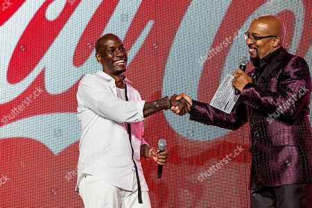 Tyrese Gibson, from left, and Nephew Tommy seen at 2016 Essence Festival at the Mercedes-Benz Superdome, in New Orleans