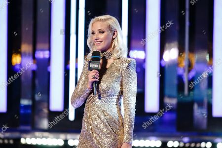 Liz Trinnear seen at the 2016 iHeartRadio MuchMusic Video Awards, in Toronto, Canada