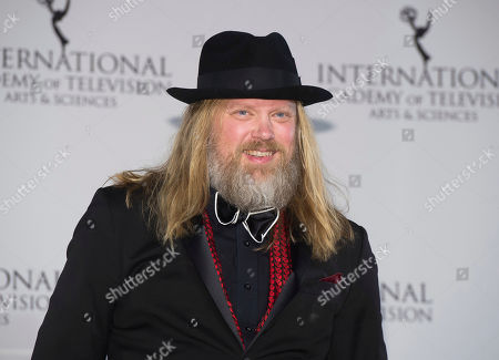 Christer Akerlund appears in the press room at the 44th International Emmy Awards at the New York Hilton, in New York