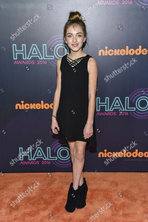 Lauren Orlando attends the 2016 Nickelodeon HALO Awards at Pier 36, in New York