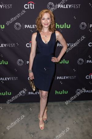 """Kate Jennings Grant, a cast member in the television series """"Notorious"""" arrives at the 2016 PaleyFest Fall TV Previews at The Paley Center for Media, in Beverly Hills, Calif"""