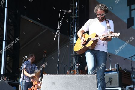 Artist Israel Nebeker of Blind Pilot performs at the Pilgrimage Music and Cultural Festival on in Franklin, Tenn