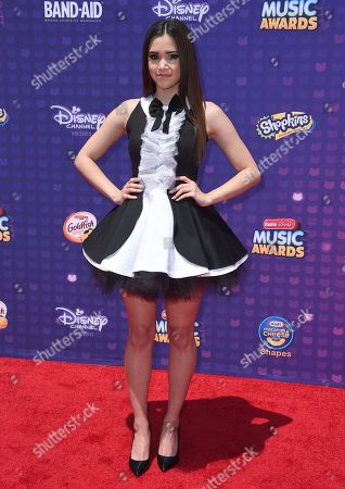 Megan Nicole arrives at the Radio Disney Music Awards at the Microsoft Theater, in Los Angeles