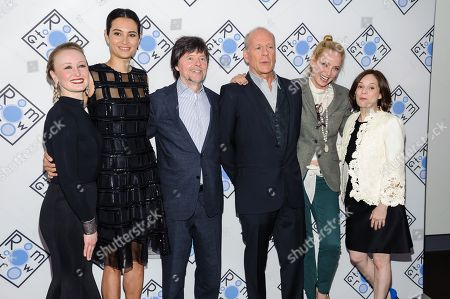 Stock Photo of Allyson Crawford, Emma Heming Willis, Ken Burns, Bruce Willis, Uma Thurman, and Julie Burns attend the 2016 Room To Grow Benefit, to support babies born into poverty, at Tribeca Three Sixty, in New York