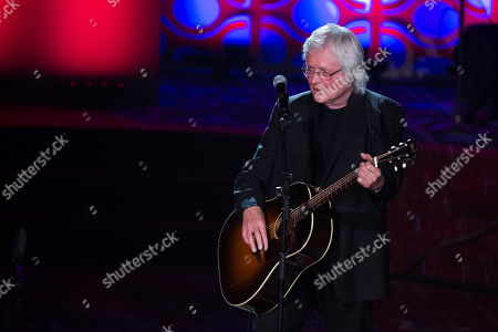 Stock Image of Chip Taylor performs at the 47th Annual Songwriters Hall of Fame Induction Ceremony and Awards Gala at the Marriott Marquis Hotel, in New York