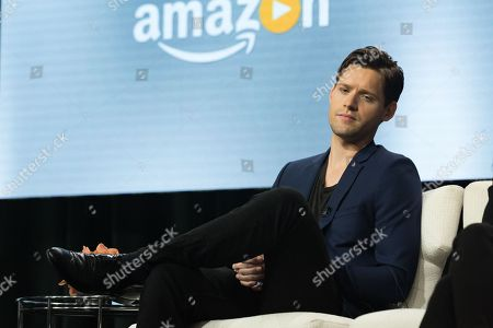 """Luke Kleintank participates in the """"The Man in the High Castle"""" panel during the Amazon Television Critics Association summer press tour, in Beverly Hills, Calif"""