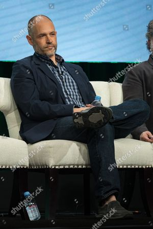 """Joe Gangemi participates in the """"Red Oaks"""" panel during the Amazon Television Critics Association summer press tour, in Beverly Hills, Calif"""