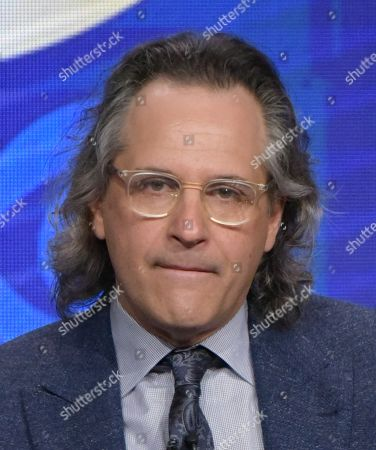 """Executive producers Jason Katims participates in the """"Pure Genius"""" panel during the CBS Television Critics Association summer press tour, in Beverly Hills, Calif"""