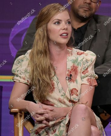 "Dreama Walker participates in the ""Doubt"" panel during the CBS Television Critics Association summer press tour, in Beverly Hills, Calif"