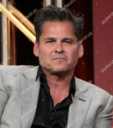 Stock Image of Executive producer Peter Lenkov participates in the 'MacGyver' panel during the CBS Television Critics Association summer press tour, in Beverly Hills, Calif