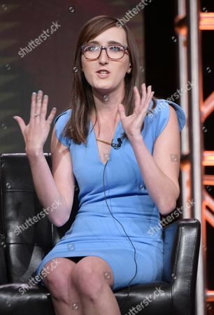 """Executive producer/co-creator Allie Hagan participates in the """"Notorious"""" panel during the Disney/ABC Television Critics Association summer press tour, in Beverly Hills, Calif"""