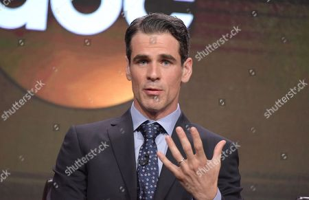 "Eddie Cahill participates in the ""Conviction"" panel during the Disney/ABC Television Critics Association summer press tour, in Beverly Hills, Calif"