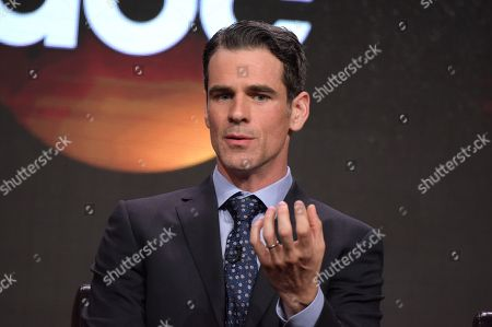 "Stock Image of Eddie Cahill participates in the ""Conviction"" panel during the Disney/ABC Television Critics Association summer press tour, in Beverly Hills, Calif"