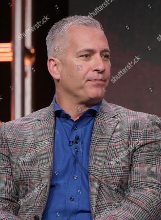 """Executive producer Aaron Kaplan participates in the """"American Housewife"""" panel during the Disney/ABC Television Critics Association summer press tour, in Beverly Hills, Calif"""