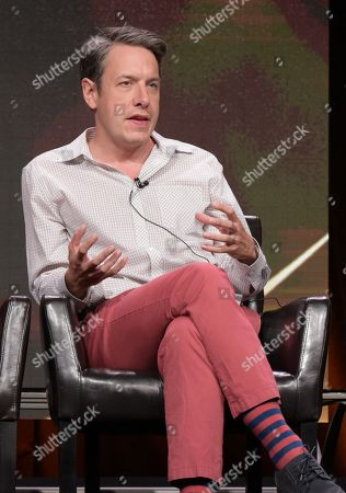 """John Ross Bowie participates in the """"Speechless"""" panel during the Disney/ABC Television Critics Association summer press tour, in Beverly Hills, Calif"""
