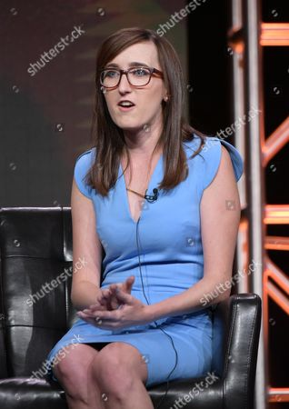 """Executive producers/co-creator Allie Hagan participates in the """"Notorious"""" panel during the Disney/ABC Television Critics Association summer press tour, in Beverly Hills, Calif"""