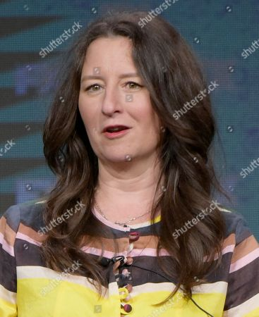 "Executive producer M. Blair Breard participates in the ""Better Things"" panel during the FX Television Critics Association summer press tour, in Beverly Hills, Calif"