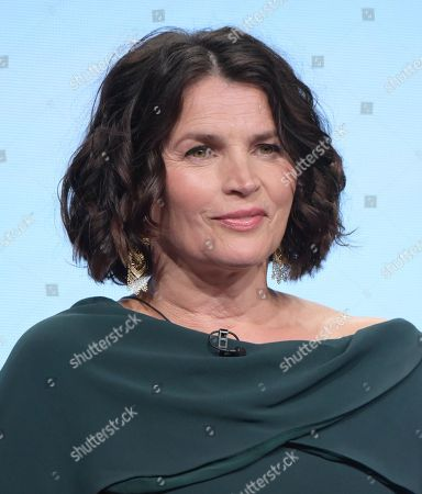 "Julia Ormond participates in the Syfy network's ""Incorporated"" panel during the NBCUniversal Television Critics Association summer press tour, in Beverly Hills, Calif"