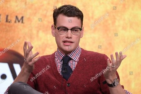 """Alex Horwitz participates in the """"Hamilton's America"""" panel during the PBS Television Critics Association summer press tour, in Beverly Hills, Calif"""