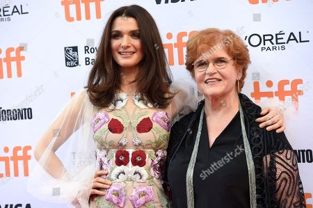 """Rachel Weisz, left,and Deborah Lipstadt arrive at the """"Denial"""" premiere on day 4 of the Toronto International Film Festival at the Princess of Wales Theatre, in Toronto"""