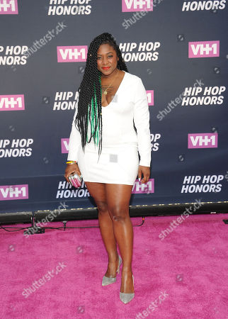 Alicia Garza attends the arrivals at VH1's Hip Hop Honors at David Geffen Hall at Lincoln Center, in New York