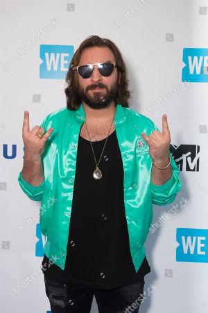 Stock Image of Coleman Hell arrives at WE Day, in Toronto
