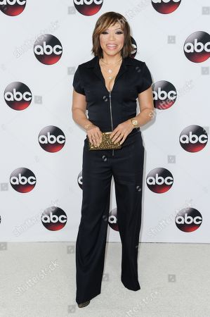 Tisha Campbell-Martin arrives at the ABC Television Group All-Star Cocktail Reception, in Pasadena, Calif