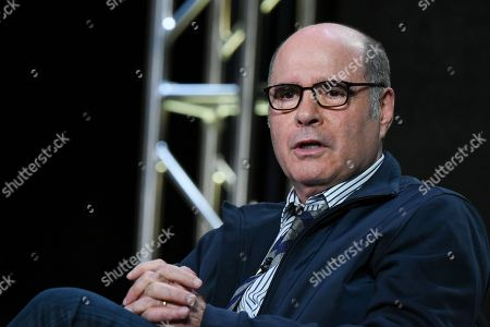 """Stock Picture of Executive Producer/Writer Clyde Phillips appears on stage during the """"Feed The Beast"""" panel at the AMC 2016 Winter TCA, in Pasadena, Calif"""
