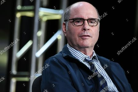 """Executive Producer/Writer Clyde Phillips appears on stage during the """"Feed The Beast"""" panel at the AMC 2016 Winter TCA, in Pasadena, Calif"""