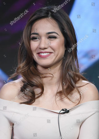 """Summer Bishil participates in syfy's """"The Magicians"""" panel at the NBCUniversal Winter TCA, Pasadena, Calif"""