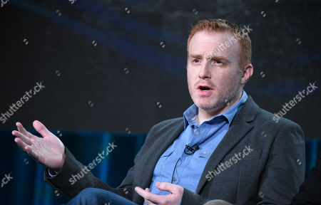 Stock Image of Executive producer/showrunner Jonathan E. Steinberg participates in the panel for 'Black Sails' at the STARZ 2016 Winter TCA, in Pasadena, Calif