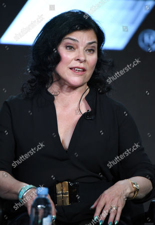 "Author Diana Gabaldon participates in the panel for ""Outlander"" at the STARZ 2016 Winter TCA, in Pasadena, Calif"